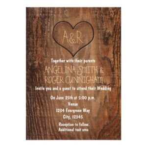 Rustic Wooden Carved in Heart Collection