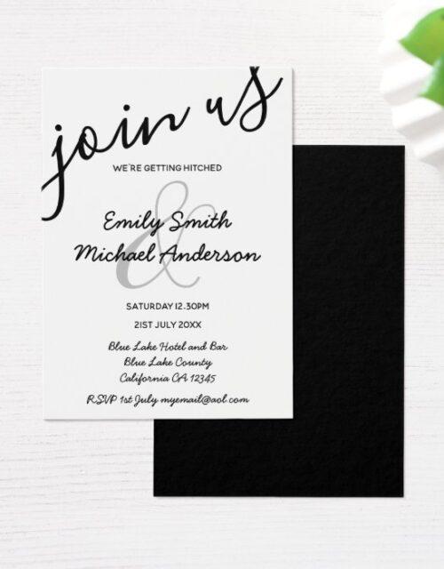 100 Low Budget Black White Wedding Invitations