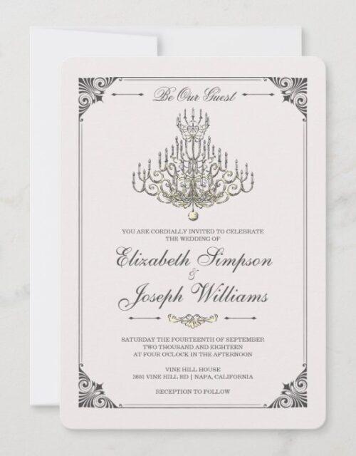 Beauty and the Beast | Fairy Tale Chandelier Weddi Invitation