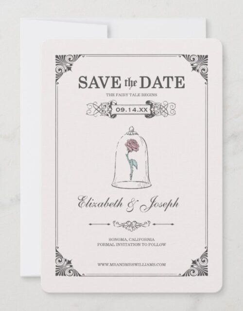 Beauty and the Beast   Fairy Tale - Save the Date
