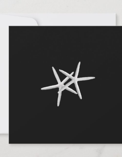 Black and White Starfish Wedding Invitation