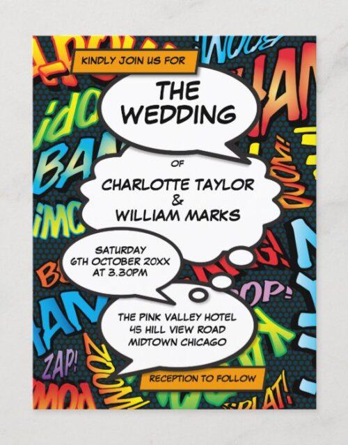 Comic Book Pop Art Wedding Invitation