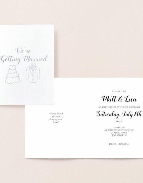 Cute Foil Wedding Invitation