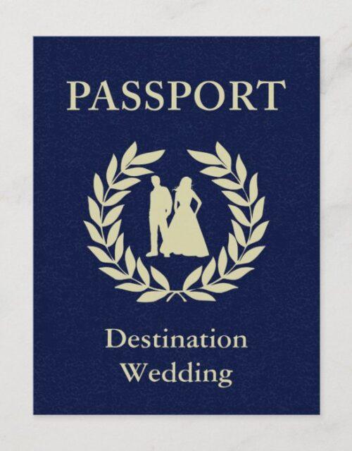 destination wedding passport invitation postcard