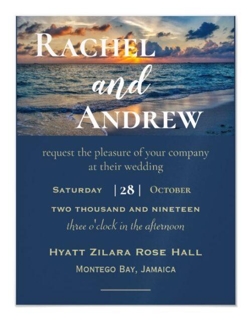 Destination Wedding Sunny Skies Wedding Invitation