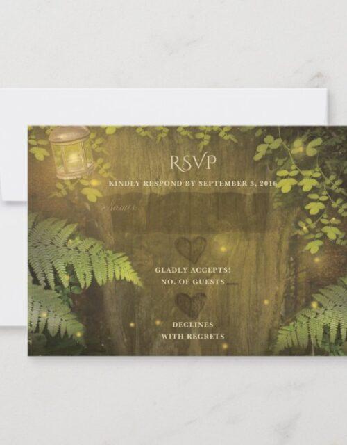 Enchanted Forest Secret Garden Dream Wedding RSVP