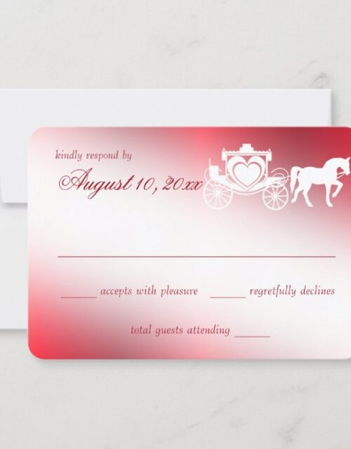 Fairy Tale Carriage Red Response Card