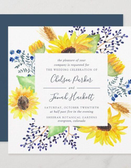 Flowerfields Wedding Invitation | Square