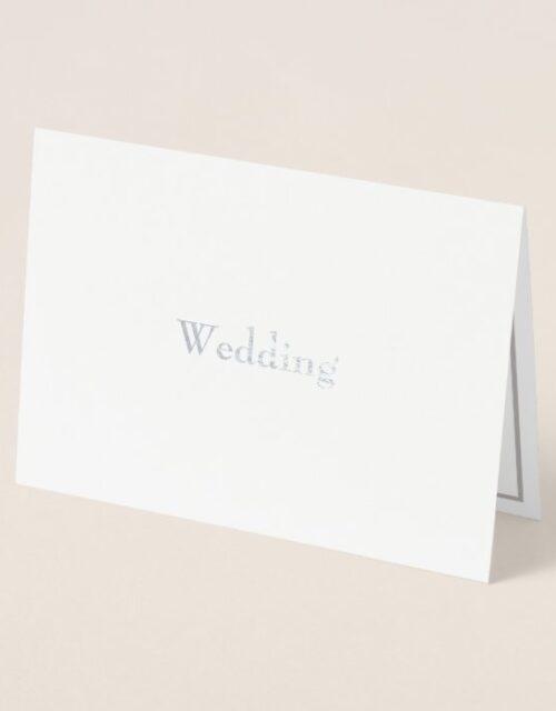 Formal Foil Divorced Parents Wedding Invitation