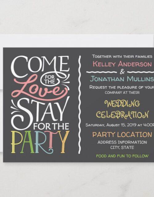 Fun wedding invitation design