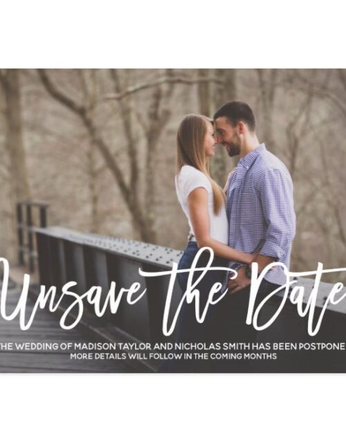 Landscape Picture Wedding Unsave The Date Postcard
