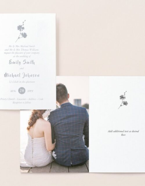 Luxury REAL FOIL WEDDING Photo Folded 3 Program