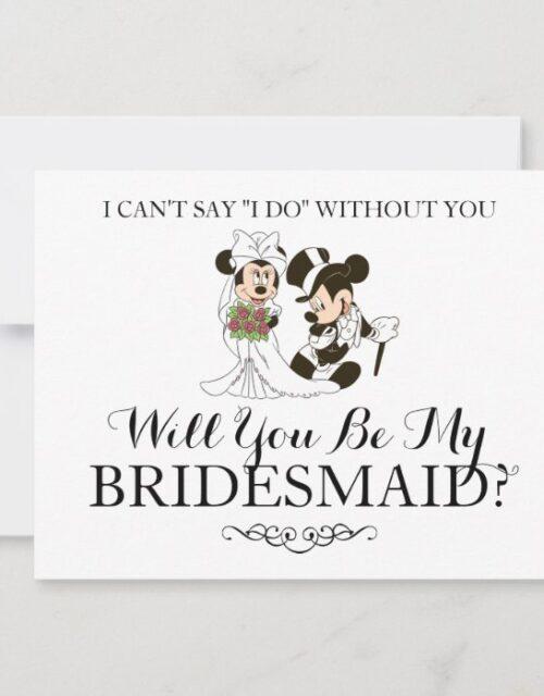 Mickey & Minnie Wedding | Married Bridesmaid Invitation