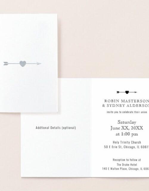 Minimalist Folded | Foil Card | Vertical