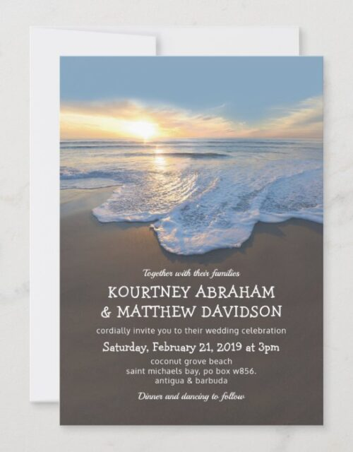 Ocean Beach Seaside Summer Wedding Invitation
