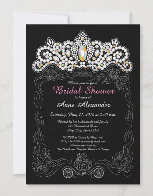 Princess Diamond Tiara Bridal Shower Invitations