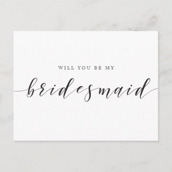 Rustic Country Wedding Will You Be My Bridesmaid Invitation Postcard