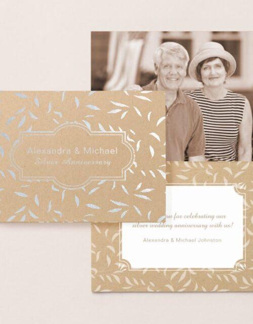 Silver Wedding Anniversary Invitation or Thank You