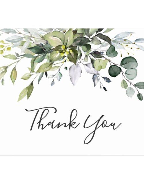 Simple Elegant Watercolor Eucalyptus Thank You Postcard
