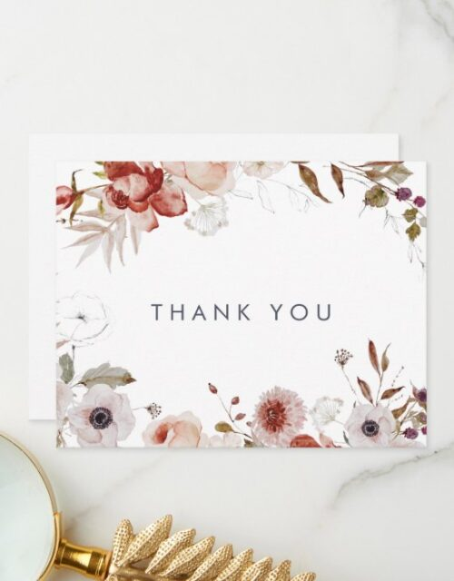 Simple Floral Thank You Card