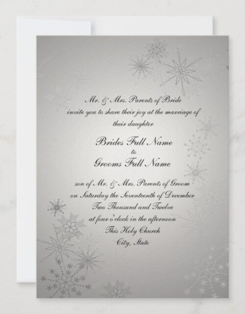 Snowflake Gems/ Silver Invitation