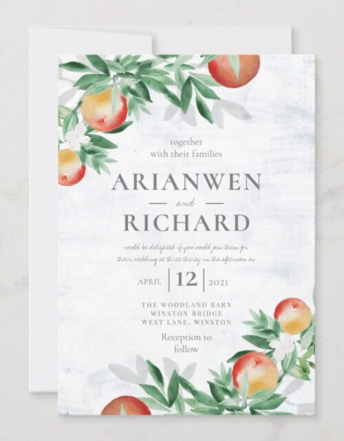 Summer Orchard Invitation