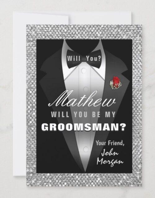 Tuxedo Be My Groomsman Invitation