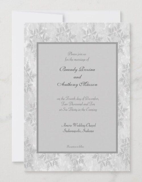Wedding Invitations winter snowflakes wedding