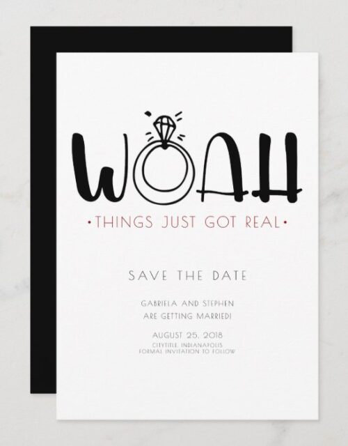 Woah This Just Got Real | Funny Save the Date Invitation